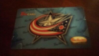 Tim Hortons Gift Card Timcard Usa Columbus Blue Jackets 2014