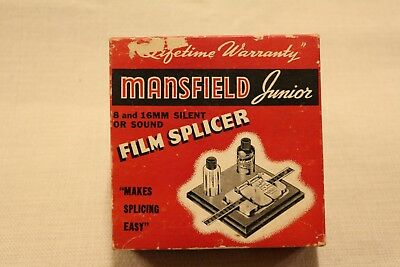 Vintage Mansfield Junior Film Splicer 8mm 16mm  Orig Box