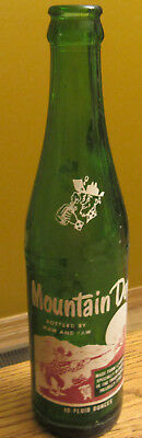 """Vintage """"RARE"""" Mountain Dew Bottle """"Bottled By Maw and Paw"""" 10oz"""