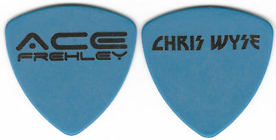Kiss-Ace Frehley Solo Tour Guitar Pick! Chris Wyse-Black & Blue!