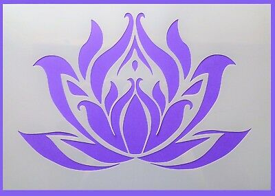 Flexible Stencil *LOTUS FLOWER* Small Medium Large Card Making Crafts Painting