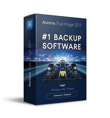 Acronis True Image 2017 for 1 Computer retail box new