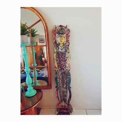 Huge Indonesian Hand Carved Wooden Statue