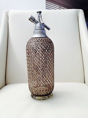 Vintage 1950's Sparklets Mesh Soda Syphon Made In England Bar Man Cave