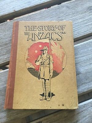 Vintage Book Archibald Strong The Story Of The Anzacs