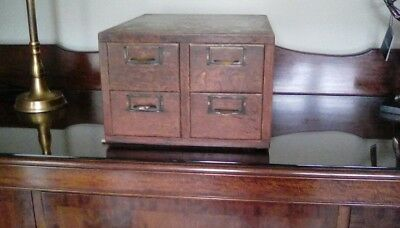 Globe Wernicke Oak Barristers desk top 4 drawer filling drawers.  Good condition