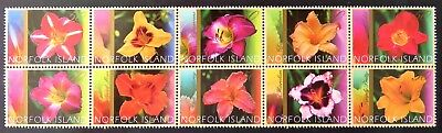 2003 Norfolk Island Stamps - Day Lilies - Block of 10 MNH