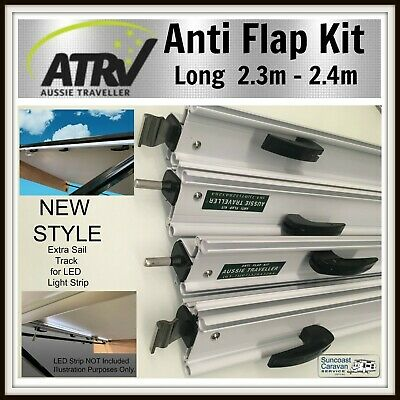 """Aussie Traveller """"Long""""  Anti Flap Kit for Rollout Caravan Awning - 2.3 / 2.4 mt"""
