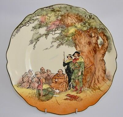 Vintage Royal Doulton UNDER THE GREENWOOD TREE Plate/Charger D6094 26cm
