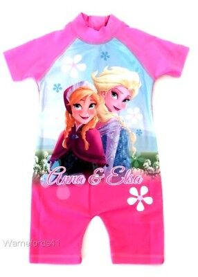 Girls FROZEN character surf suit, swim costume, swimsuit 18mths - 5yrs FREE P&P