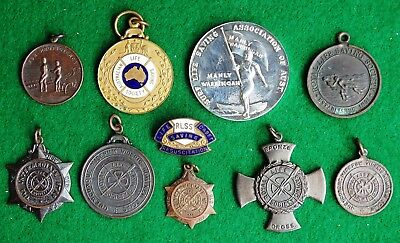 Vintage Surf Life Saving Badge and Medals