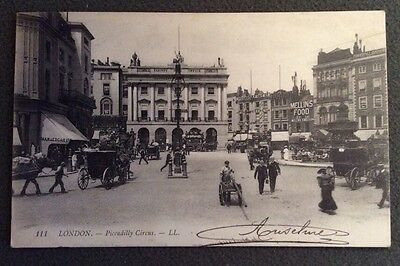 CPA. LONDON. Londres. 1909. Picadilly Circus.