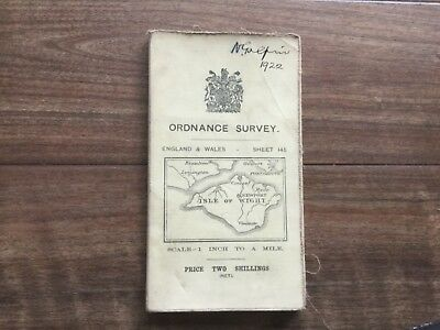 Ordnance Survey Map Of Isle Of Wight - 1912 Revision
