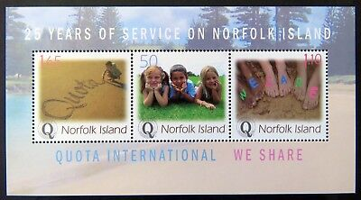 2004 Norfolk Island Stamps - QUOTA International Silver Jubilee - Mini Sheet MNH