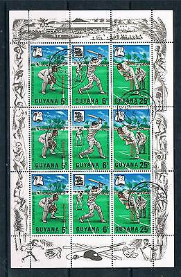 Guyana 1968 W.I.Cricket Tour SHEET SG 445/7 CTO