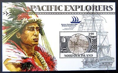 2005 Norfolk Island Stamps - Pacific Explorers - Mini Sheet MNH