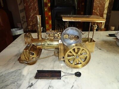 Wilesco brass old smokey steam roller spares or repair