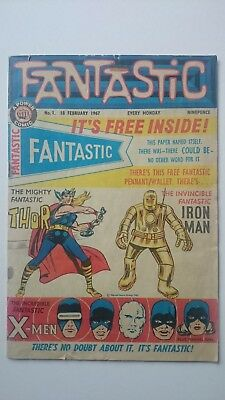 Fantastic Comic # 1  -Vg  Mighty Thor  Iron-Man & X-Nen  Ohdams Press  Feb 1967