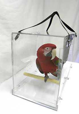 Large Bird Carrier , Solid acrylic  parrot Macaw travel