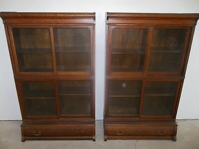 Antique matched pair Danner bookcases
