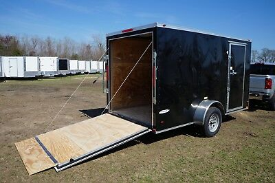 BRAND NEW 2018 6x12 V-Nosed Enclosed Cargo Trailer (Black)