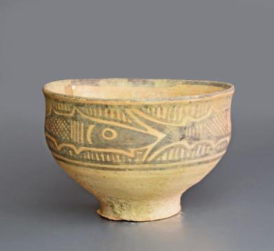 Indus Valley Nal Culture decorated pottery vessel: Circa 2500-2000 BC.