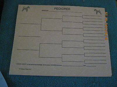 Lakeland Terrier Blank Pedigree Sheets Pack 10 FREE SHIPPING IN USA dog