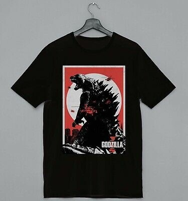 Cool Funny Godzilla Movie Poster Ideal Gift Present Unisex Retro Cool Tshirt