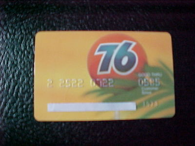 Union 76 oil company expired credit card. expired 05/85. excellent.