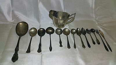 Silver Plated Lot Collection: Mostly Spoons: See Description & Pictures