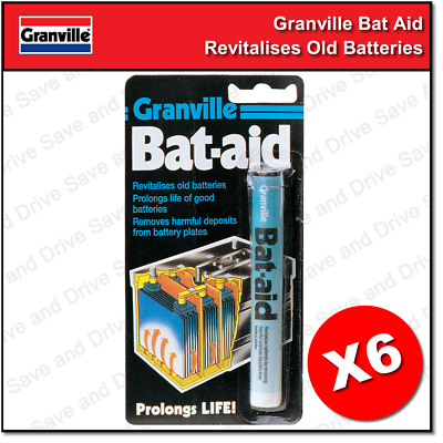 6x Granville Car Bat Aids Battery Tablets Additive Bat-Aid Revitalize Batteries