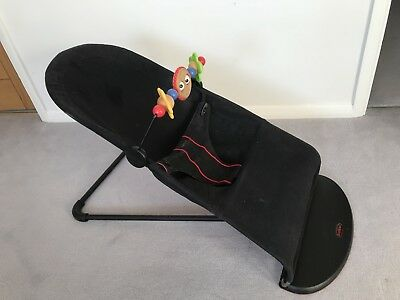 Baby Bjorn Babysitter Balance Bouncer Chair, black with wooden toy