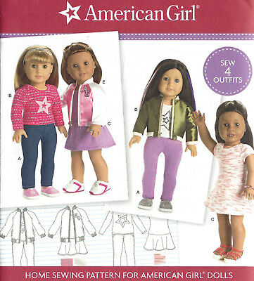 "18"" AMERICAN GIRL DOLL Modern Clothes Simplicity 8484 UNCUT Sewing Pattern NEW"