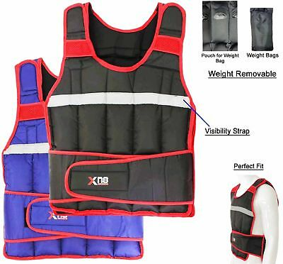 Weighted Vest 15Kg Weight Loss Training Running Adjustable Jacket Removeable
