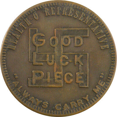 Cincinnati, Ohio - Health-O Products 1920's Good Luck Brass Token