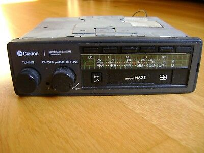 Clarion M622 Stereo FM/LW/MW Radio Cassette Player (mid-1980s)