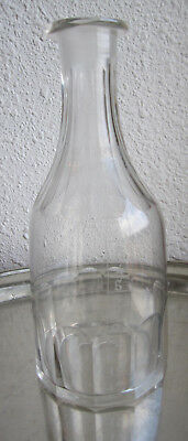 Ancienne Topette Carafe Graduee Bistrot Absinthe Verre Souffle Taille 19°