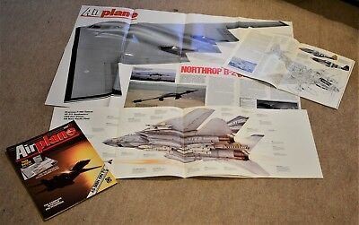Airplane Magazine Part 1/2 : B2 A1 Size Poster  F14  P51  B-2  Night Fighters
