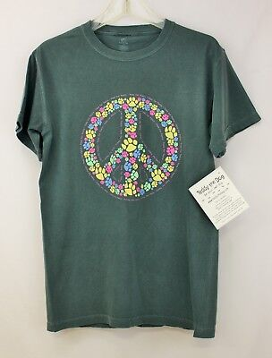 Teddy The Dog ~ Paws for Peace ~ Classic Garment Dyed T-Shirt NWT