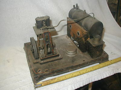 DOLL TOY Company ? HORIZONTAL LIVE STEAM BOILER / ENGINE spares or repair.