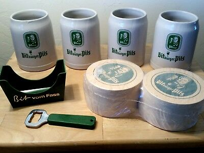 Bitburger Vintage 1984 Steins plus coasters and more