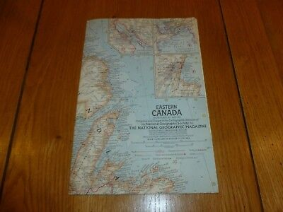 EASTERN CANADA - National Gegraphic MAP - ATLAS PLATE 20 - May 1967