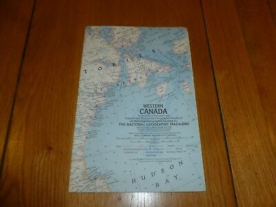 WESTERN CANADA - National Gegraphic MAP - ATLAS PLATE ? - May 1966