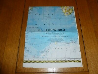THE WORLD - National Gegraphic MAP - ATLAS PLATE ? - Dec 1981