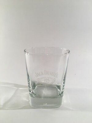 Jack Daniels Old No 7 Brand Lowball Whiskey Rocks Bar Glass With Logo