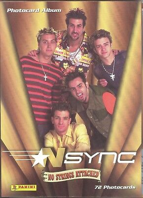 Nsync No Strings Attached Panini Photocard Album Binder Only Music