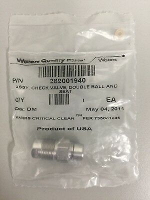 Waters 700002968 Check Valve, Double ball and Seat, for Acquity BSM, +
