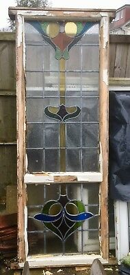 Original 1920/30s Large Stained Glass Window