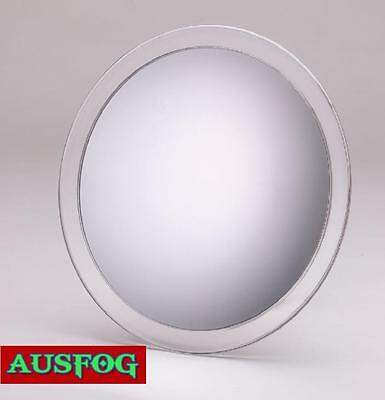 "Modern Bath Acrylic Round Fogless Bathroom Mirror 9"" Shower Suction 3X Magnify"
