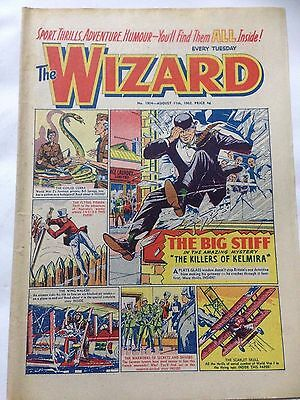 DC Thompson. THE WIZARD Comic August 11th 1962. Issue 1904 *Free UK Postage*